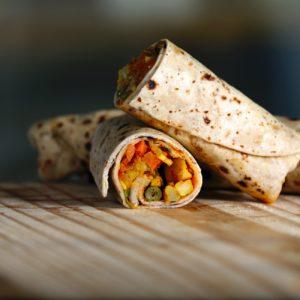 close up photo of burrito